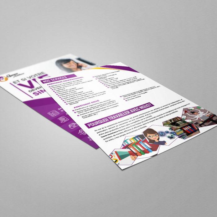 Mockup Flyer Queen Verso